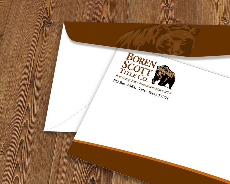 Logo design and envelope printing for Tyler, Texas title company