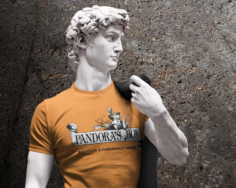 T-Shirt design for Pandora's Box Antiques, Frankston, Texas