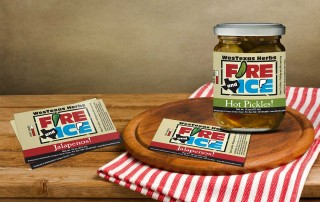 Jar label design for pickling company in Corpus Christi Texas