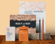 Compilation of flyers, letterhead, business cards, postcards