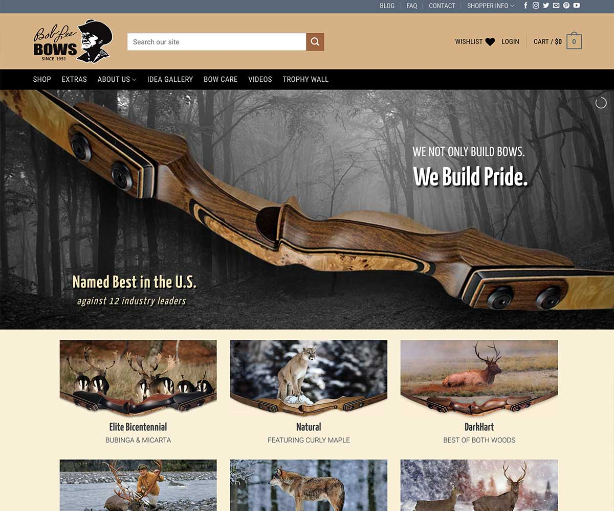 Web Site Design for Bob Lee Bows