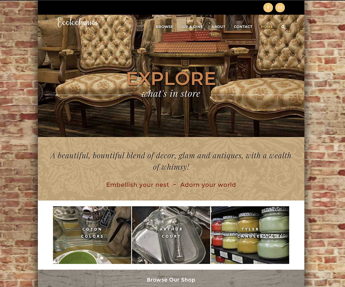 Web Site Design for Ecclectiques in Troup Texas