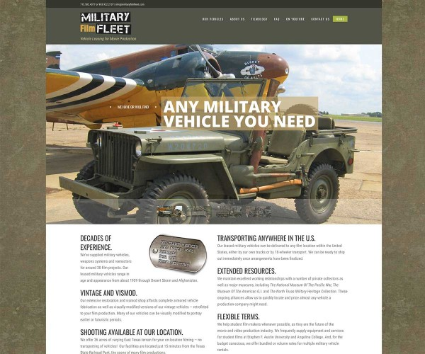 Web Site Design for Film Vehicles in Rusk, Texas