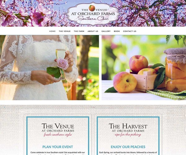 Web Site Design for Orchard Farms Venue in Troup, TX