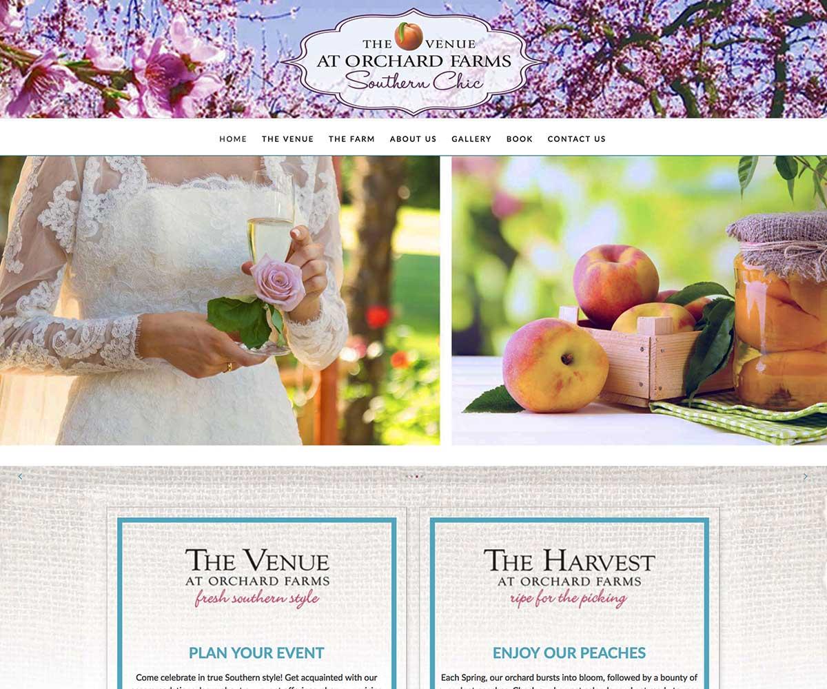 Web Site Design for Orchard Farms Venue in Troup, TX