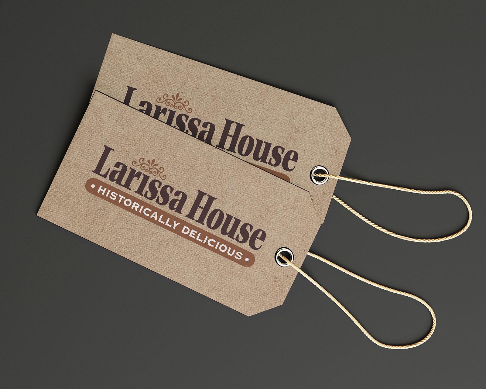 Logo for Larissa House Restaurant in Jacksonville, Texas