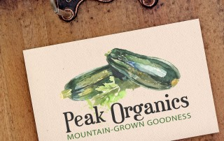 Logo design for organic produce in Idaho
